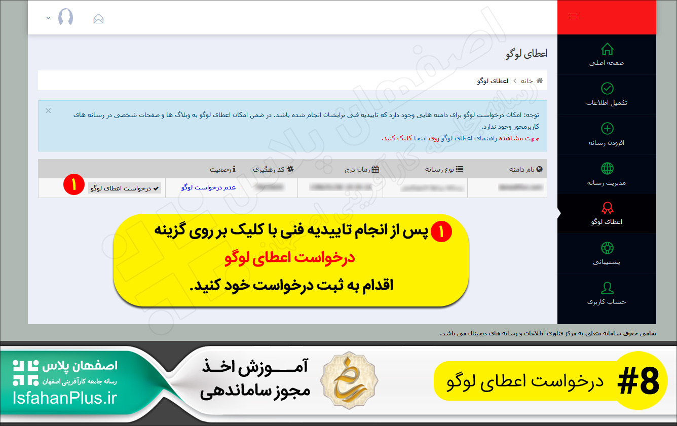 آموزش اخذ مجوز ستاد ساماندهی پایگاه های اینترنتی